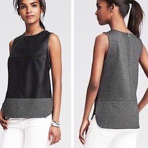 Banana Republic leather style sleeveless XS top